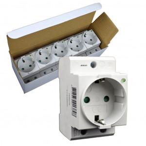 SEP CWCD-GI stopcontact 2p+PE, led, DIN-mod