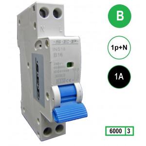 SEP INS18-B01 inst. 1p+n B1 6kA (18mm)