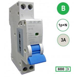 SEP INS18-B03 inst. 1p+n B3 6kA (18mm)