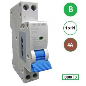 SEP INS18-B04 inst. 1p+n B4 6kA (18mm)