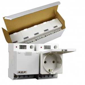 SEP IWCD-GD stopcontact 2p+PE, led, deksel, voltage, DIN
