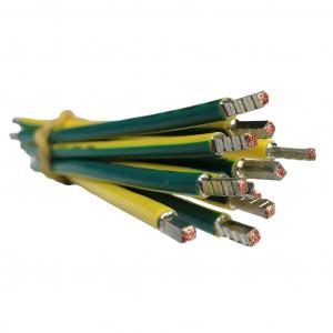 SEP bedrading 10mm2, l=125mm, geel/groen, 105gr