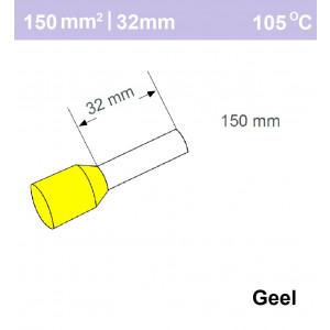 Schotman Elektro - SEP adereindhuls enkelvoudig 150mm2 lengte 32mm geisoleerd