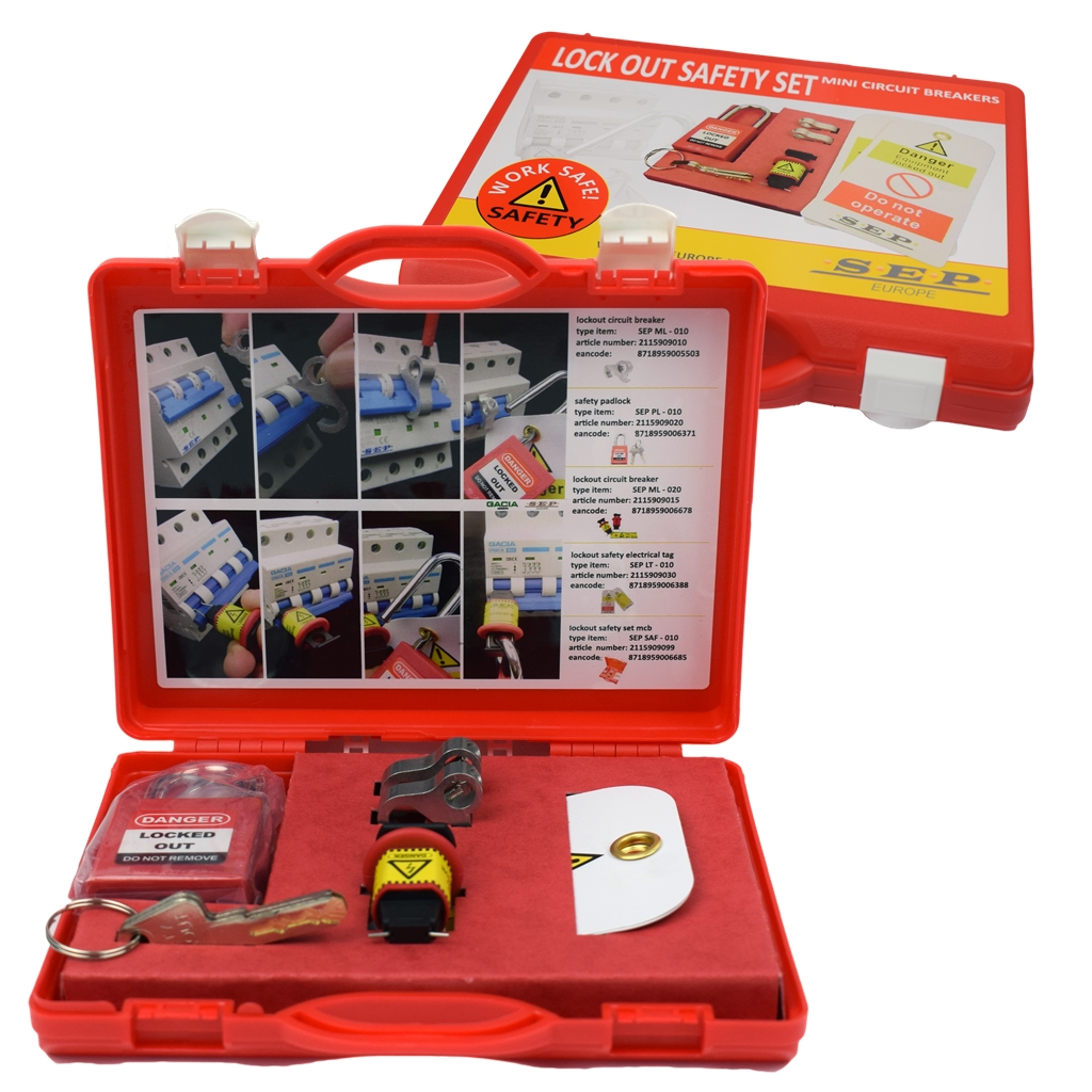 SEP LOCKOUT TAGOUT vergrendelingsset